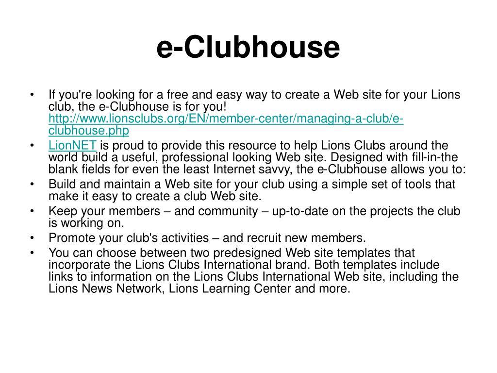 e-Clubhouse