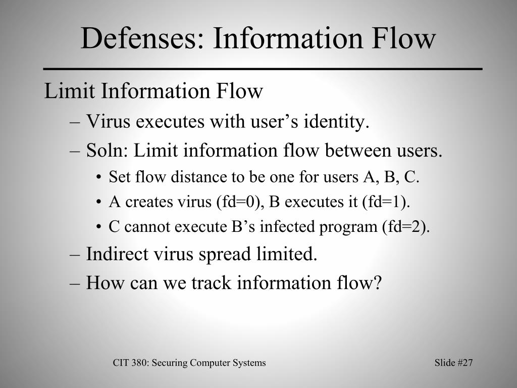 Defenses: Information Flow