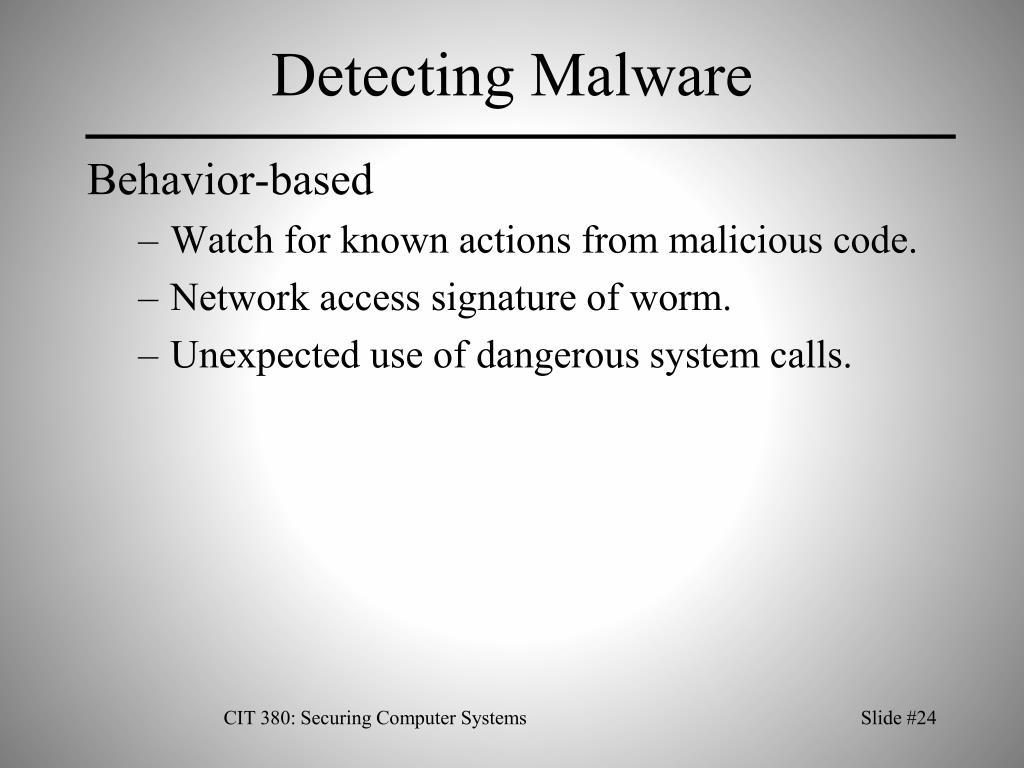 Detecting Malware