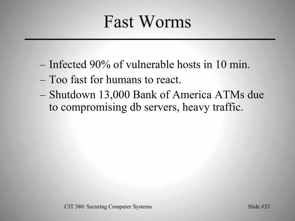 Fast Worms