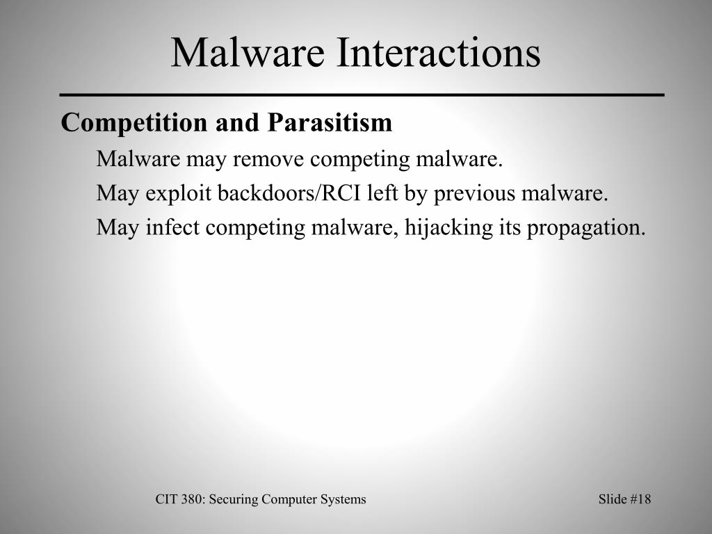Malware Interactions