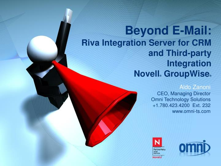 Beyond e mail riva integration server for crm and third party integration novell groupwise
