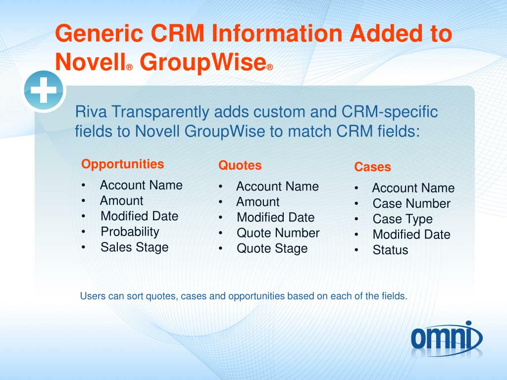 Generic CRM Information Added to
