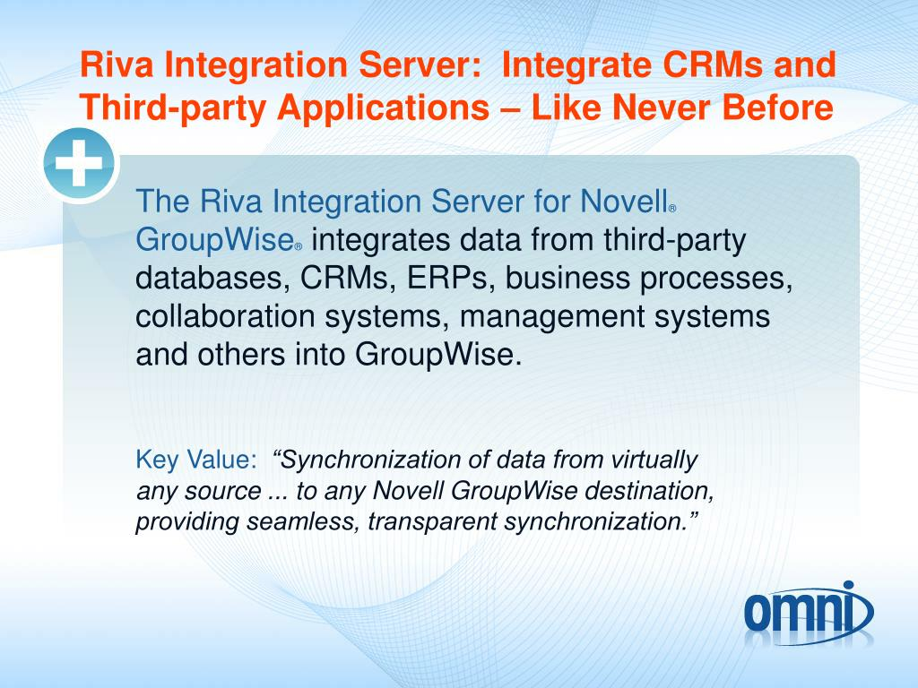 Riva Integration Server:  Integrate CRMs and Third-party Applications – Like Never Before
