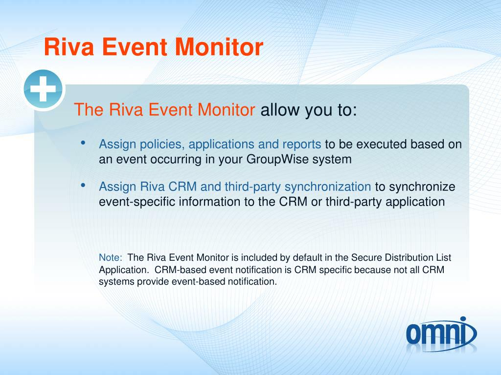 Riva Event Monitor