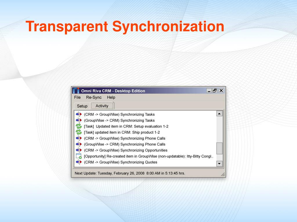 Transparent Synchronization