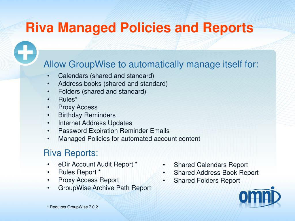 Riva Managed Policies and Reports