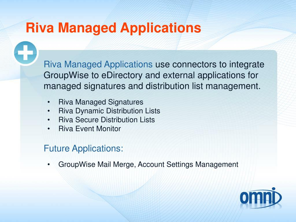Riva Managed Applications