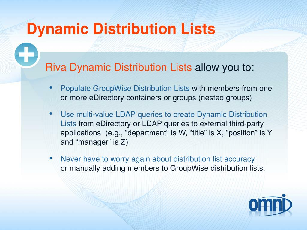 Dynamic Distribution Lists
