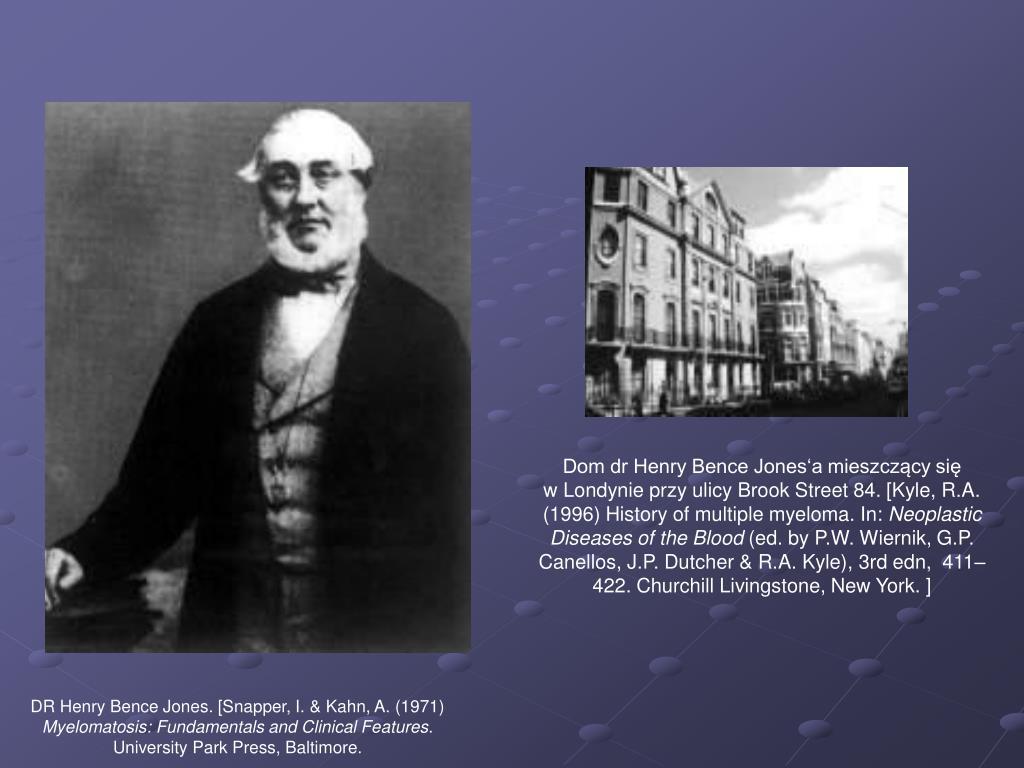 Dom dr Henry Bence Jones'a mieszczący się        w Londynie przy ulicy Brook Street 84. [Kyle, R.A. (1996) History of multiple myeloma. In: