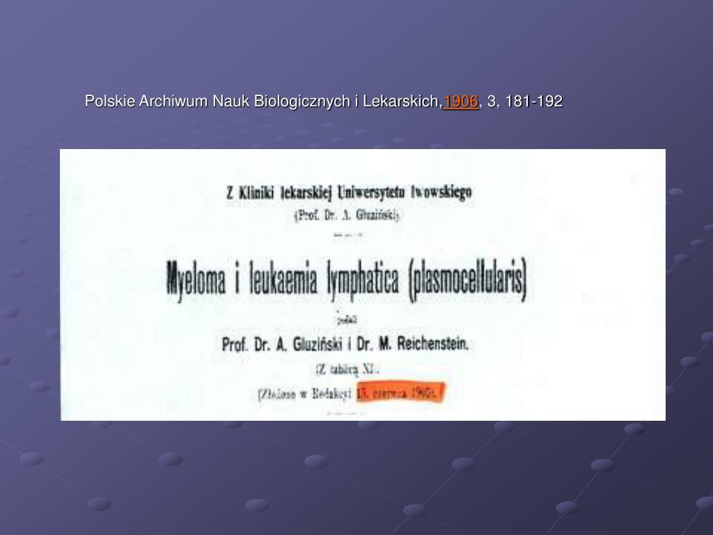 Polskie Archiwum Nauk Biologicznych i Lekarskich,