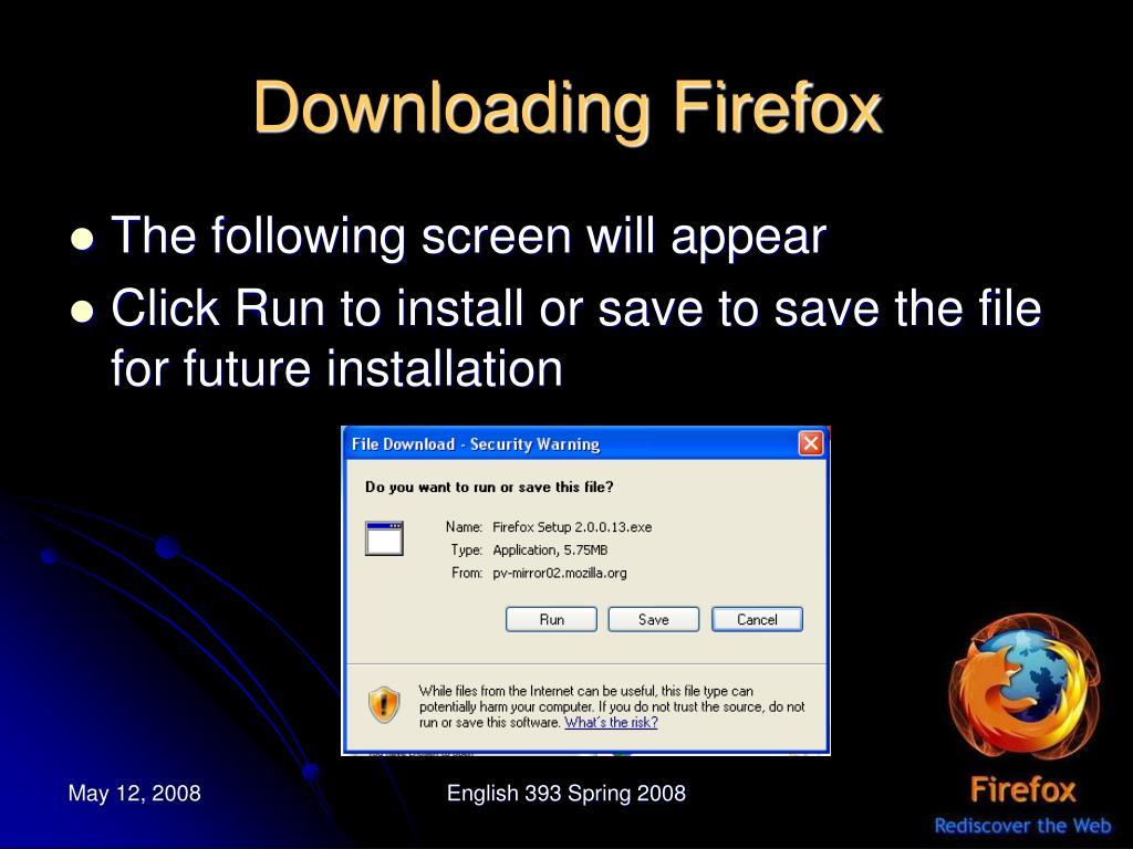 Downloading Firefox