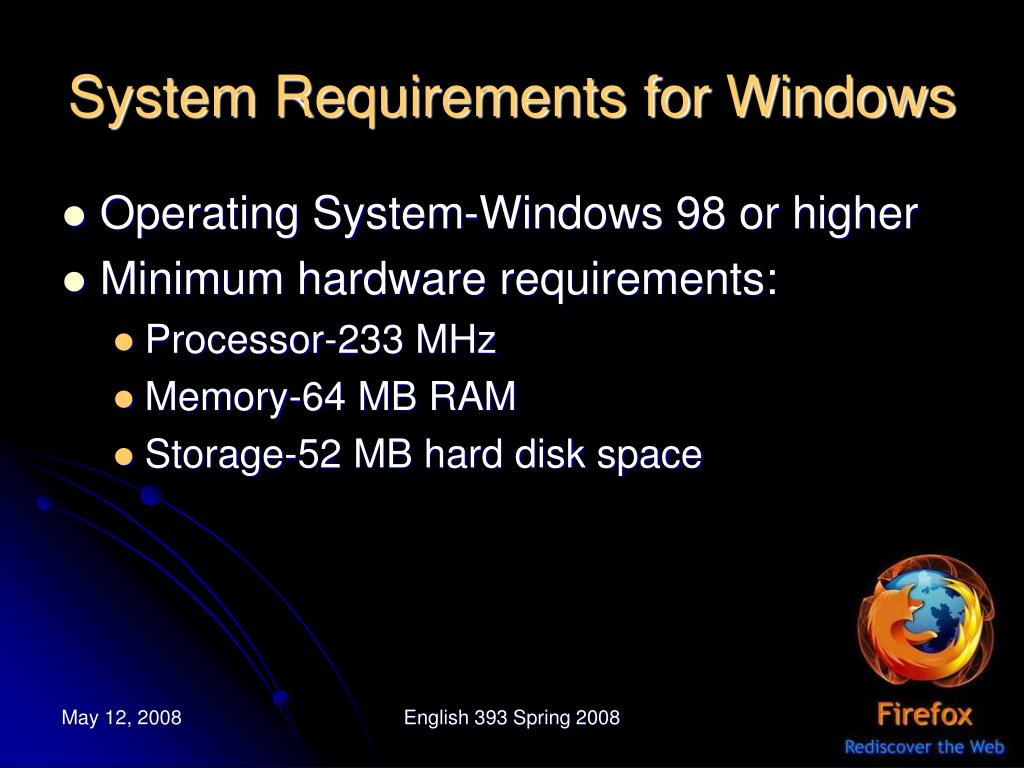 System Requirements for Windows