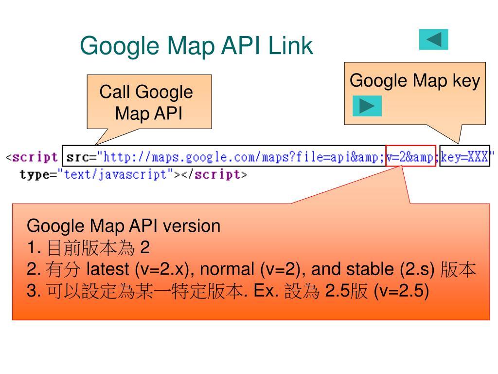 Google Map API Link