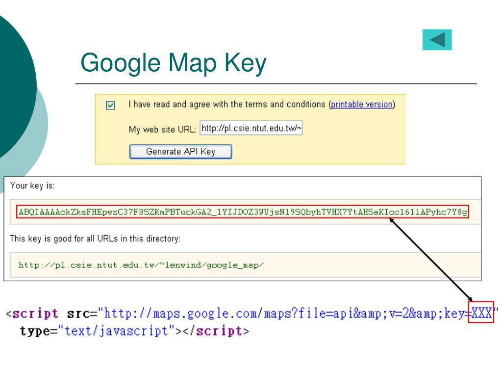 Google Map Key
