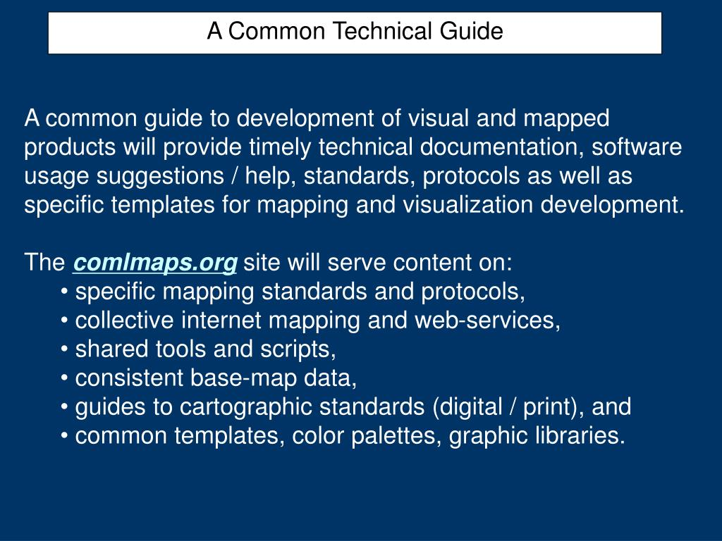 A Common Technical Guide