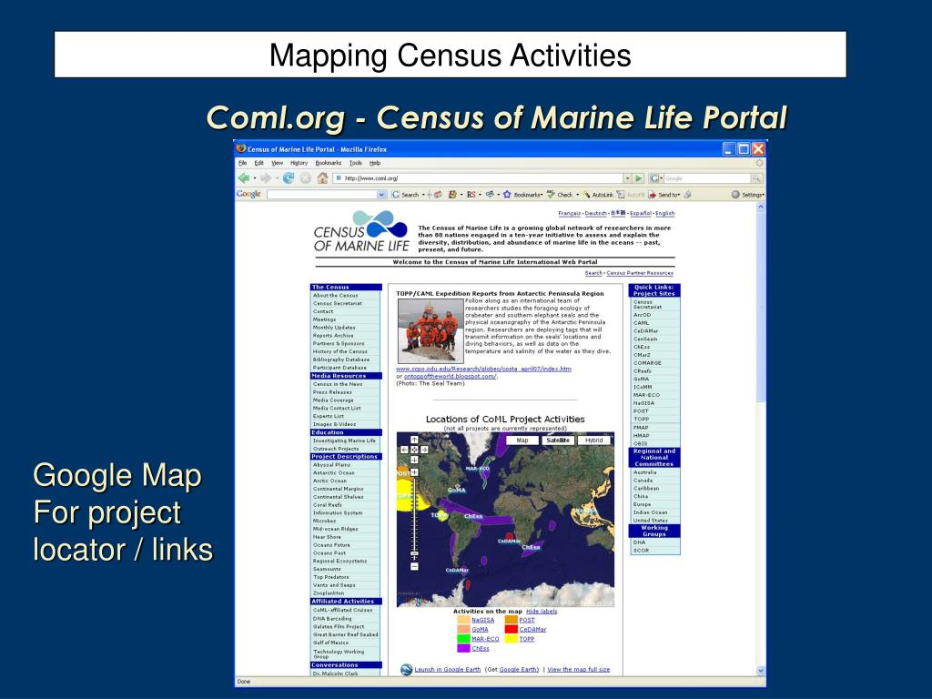 Mapping Census Activities