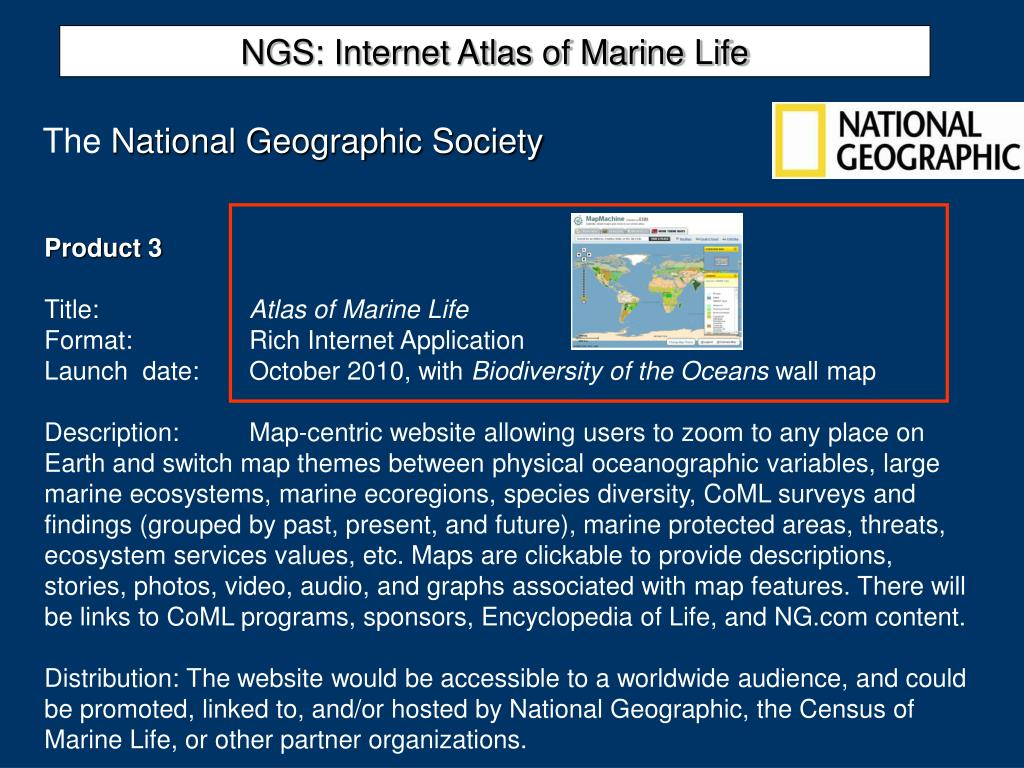 NGS: Internet Atlas of Marine Life