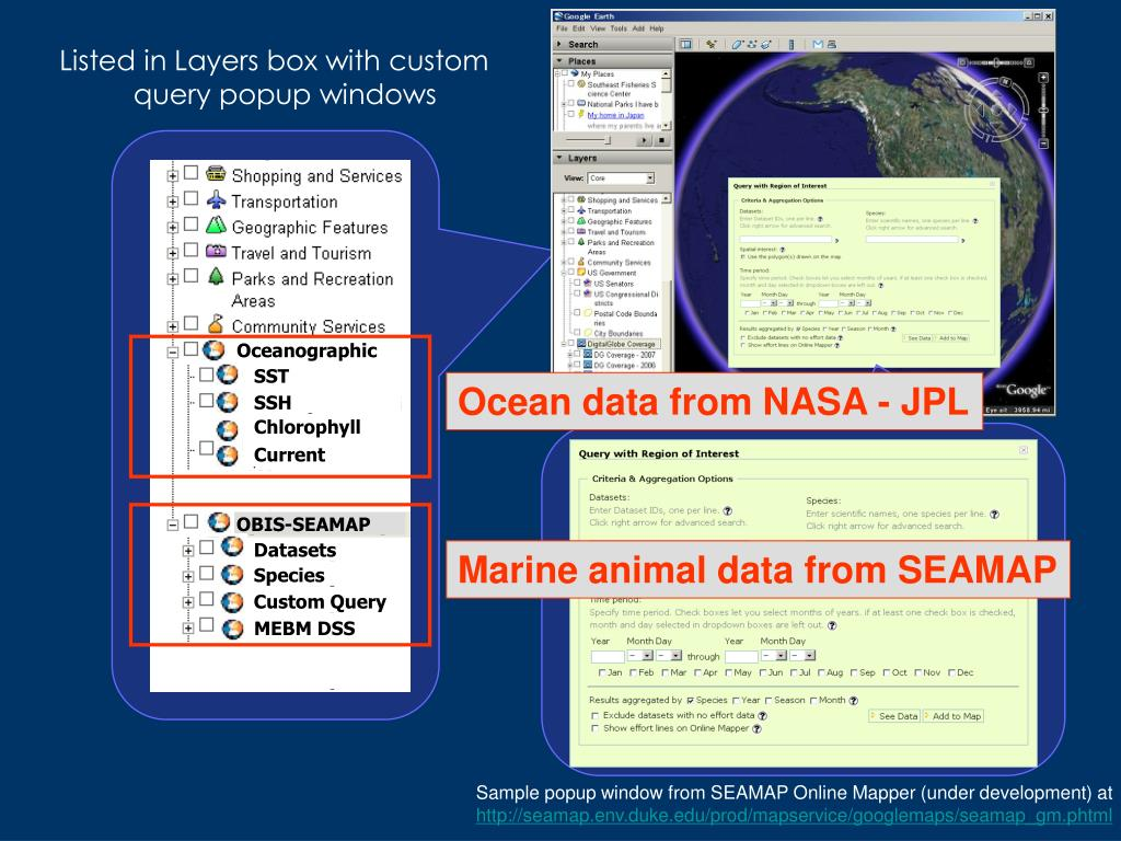 Ocean data from NASA - JPL