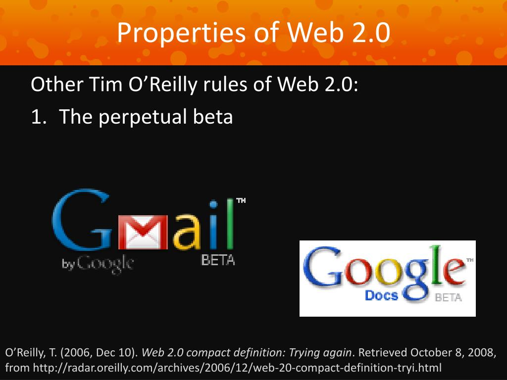 Properties of Web 2.0