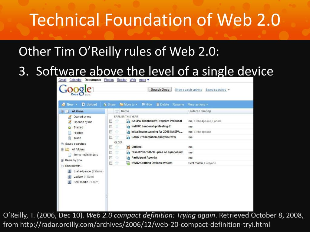Technical Foundation of Web 2.0