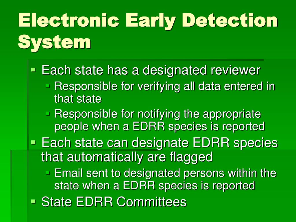 Electronic Early Detection System