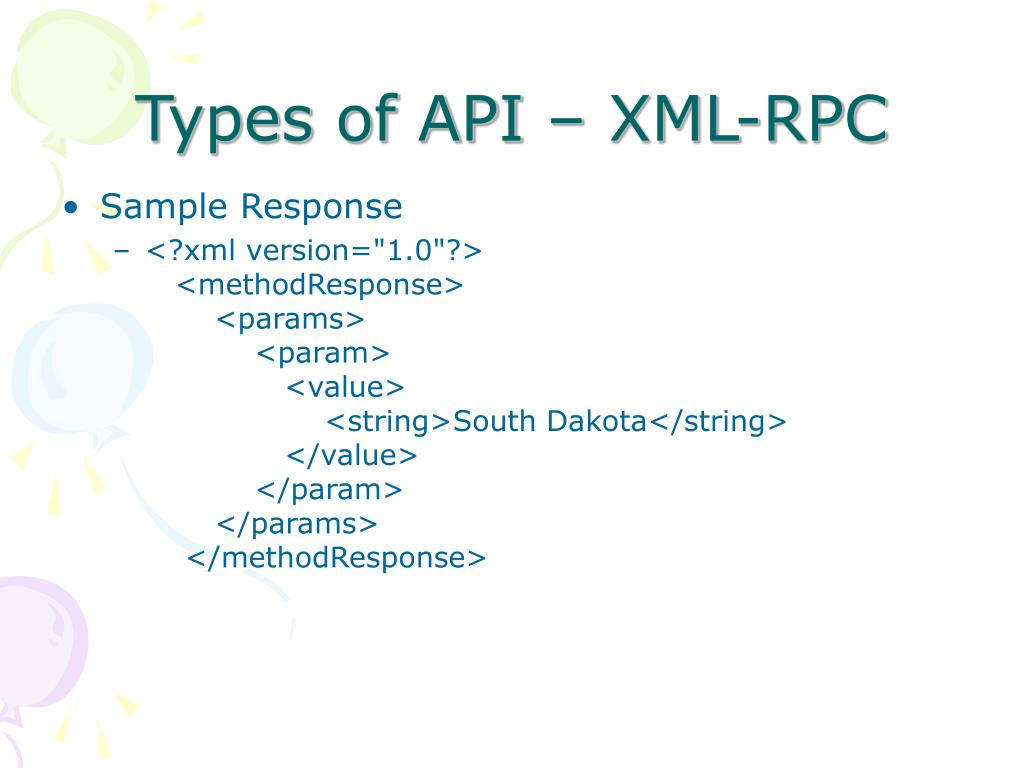 Types of API – XML-RPC