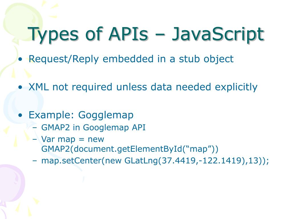 Types of APIs – JavaScript