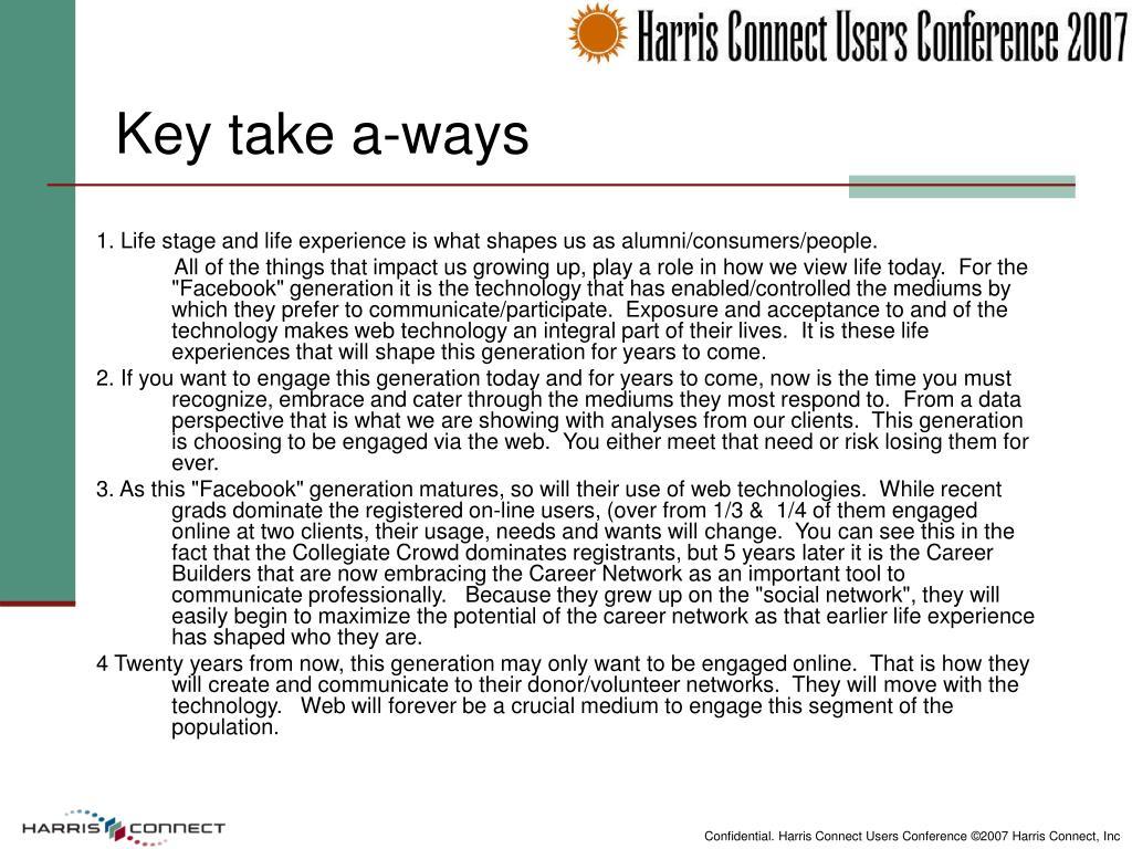 Key take a-ways