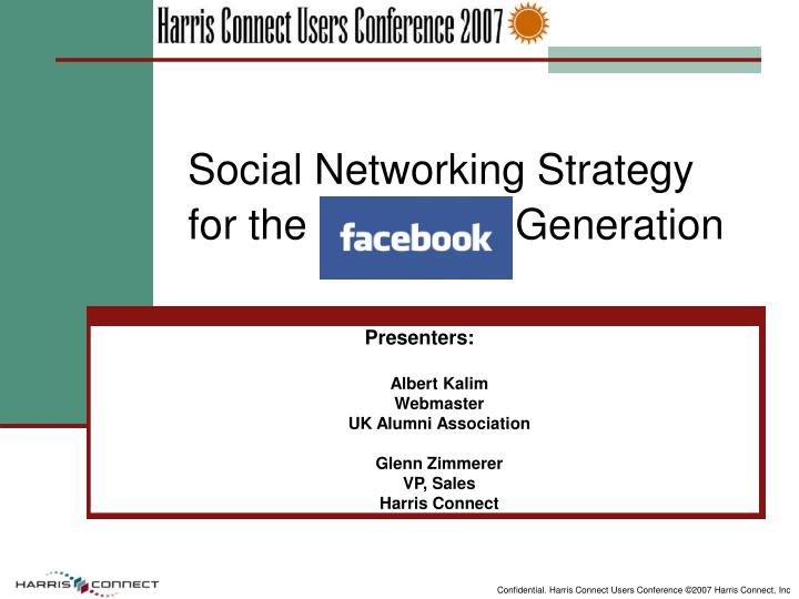 Social networking strategy for the facebook generation