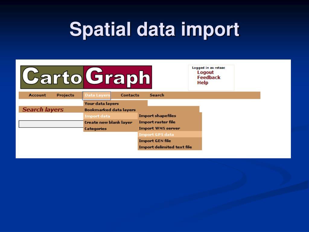 Spatial data import