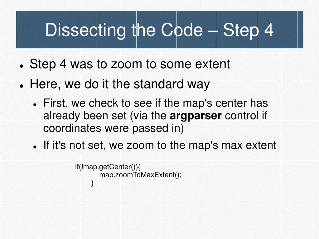 Dissecting the Code – Step 4