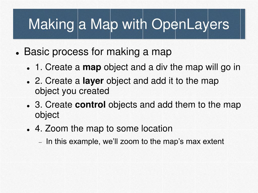 Making a Map with OpenLayers