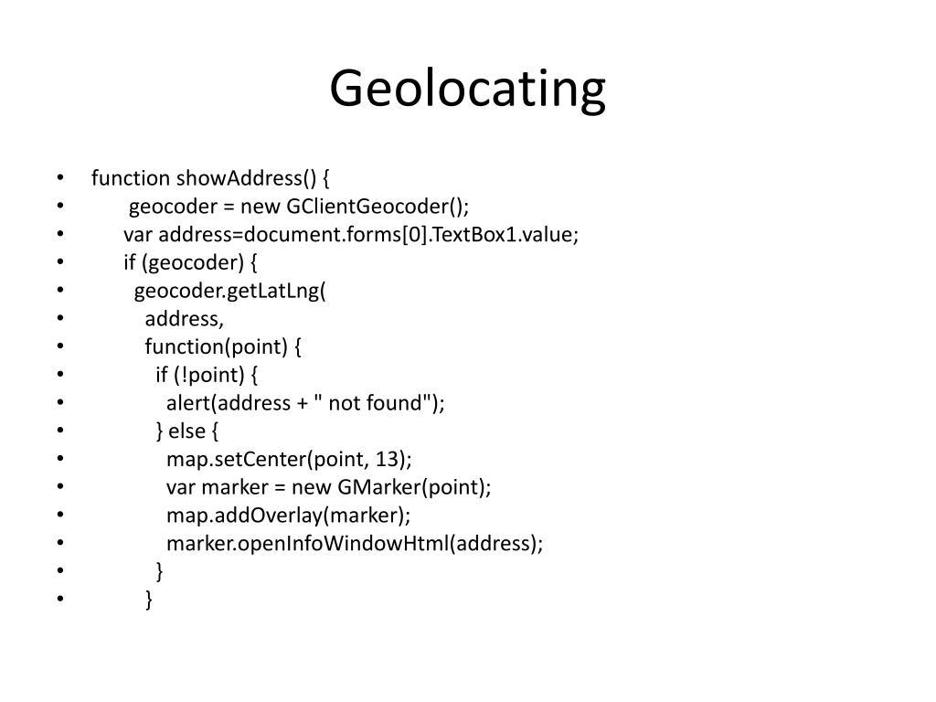 Geolocating