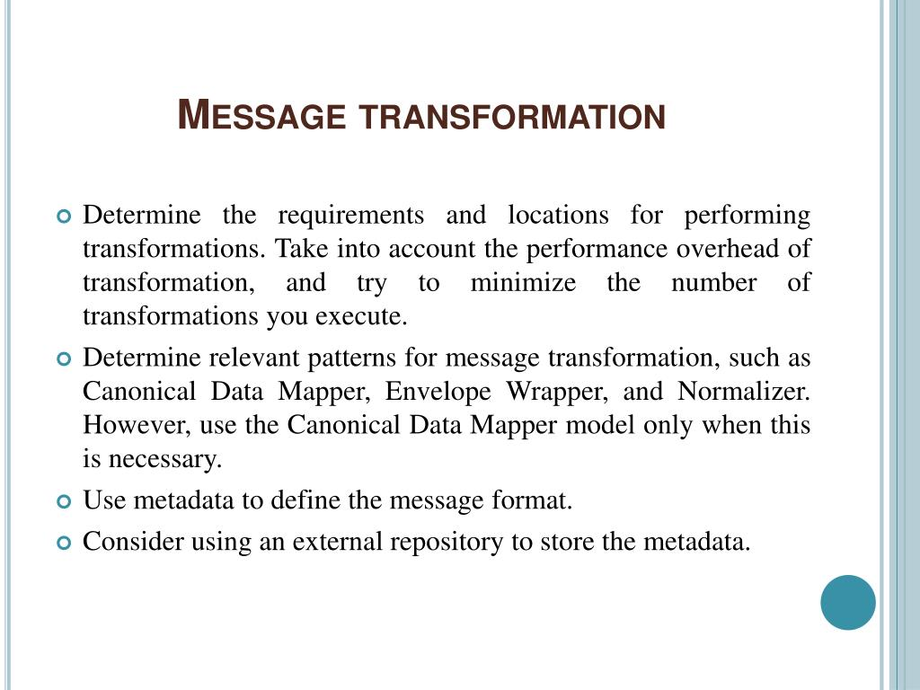 Message transformation
