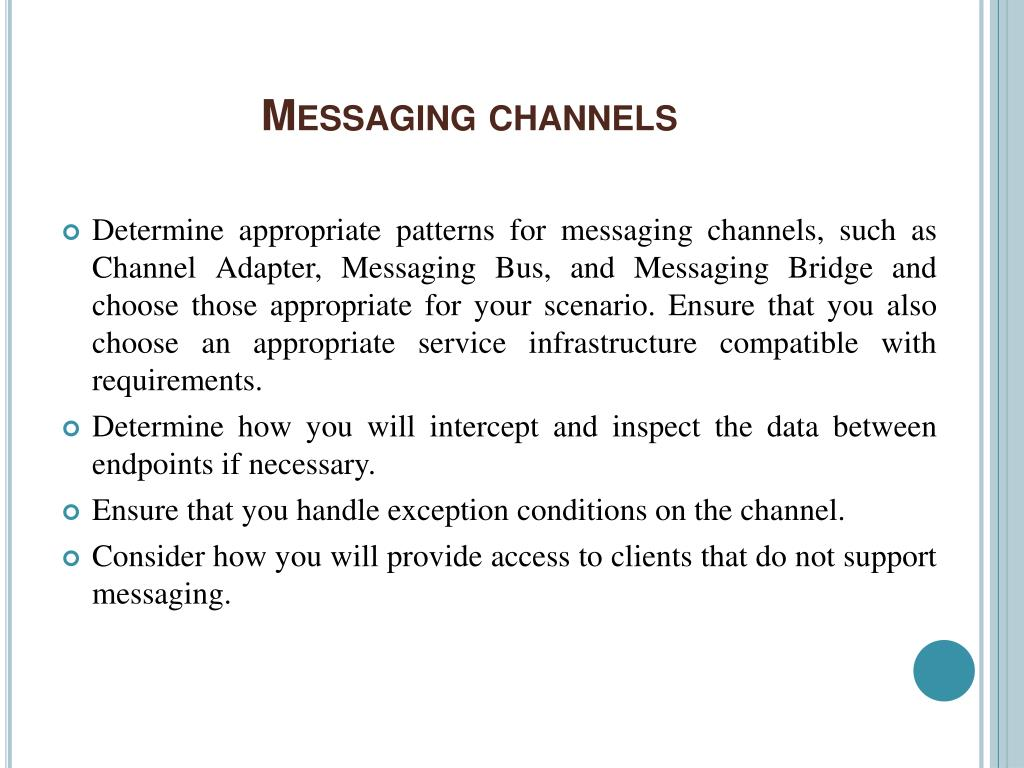 Messaging channels