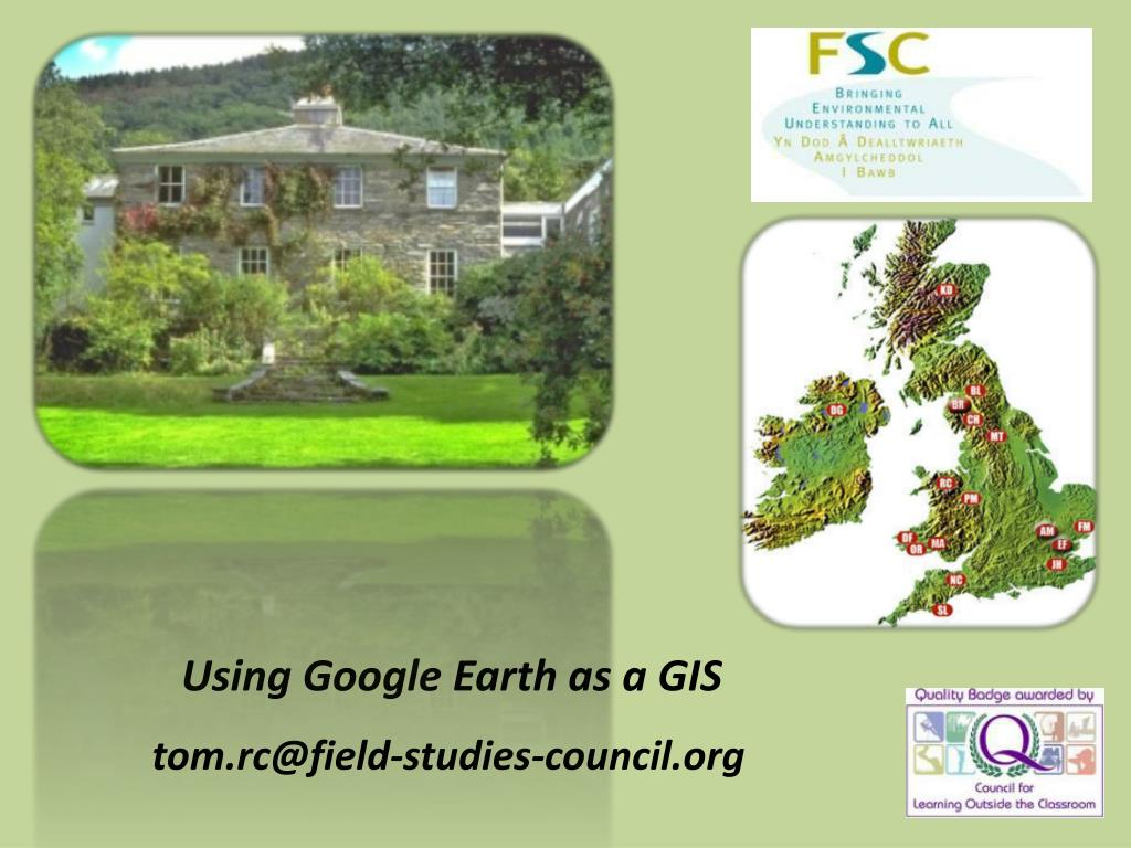 Using Google Earth as a GIS
