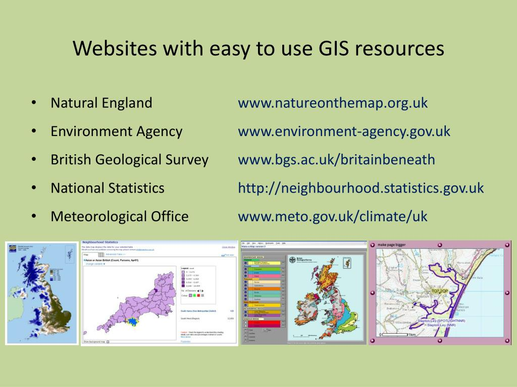 Websites with easy to use GIS resources