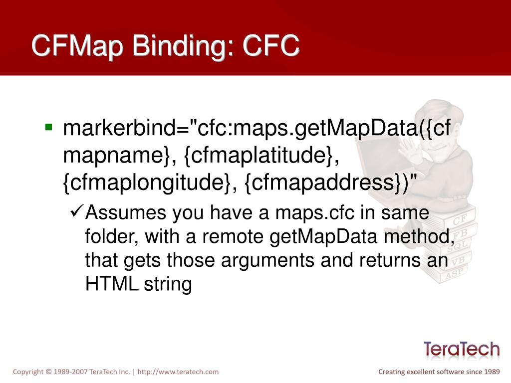 CFMap Binding: CFC