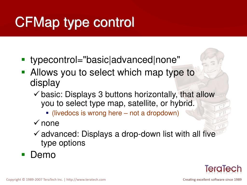 CFMap type control