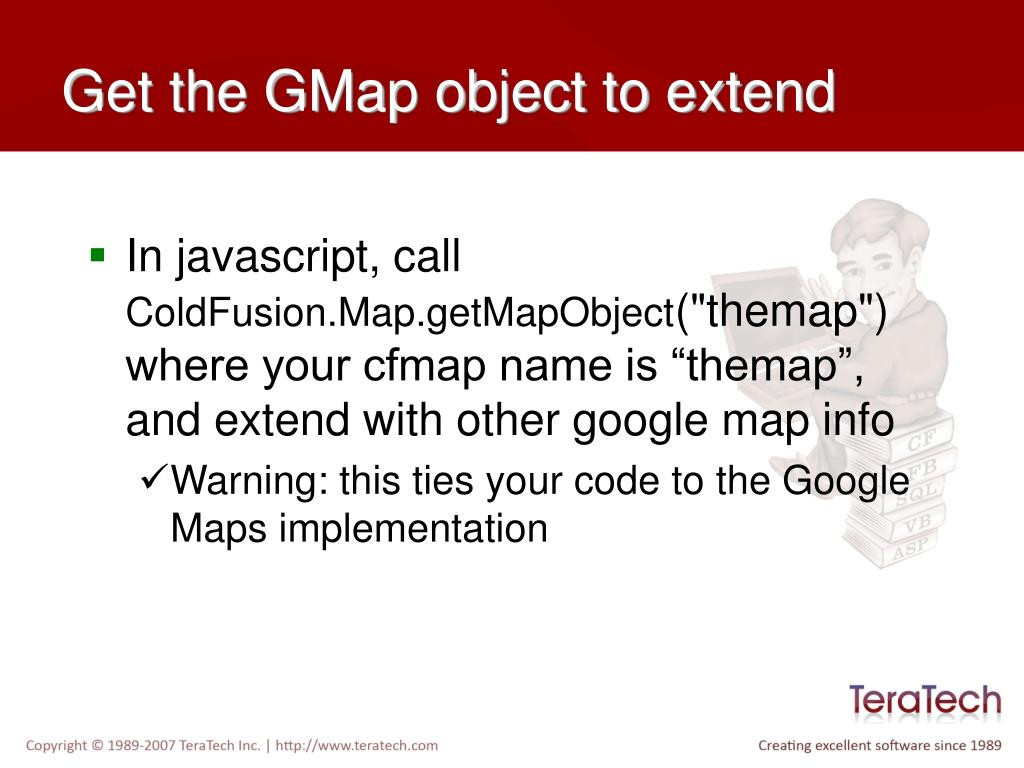 Get the GMap object to extend