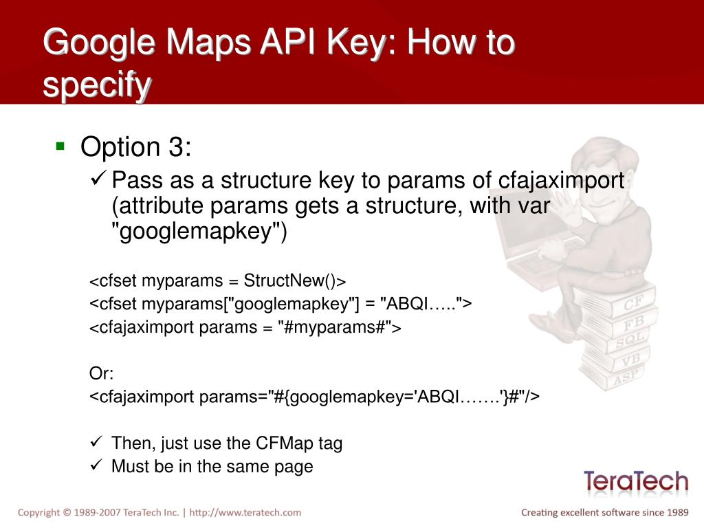 Google Maps API Key: How to specify