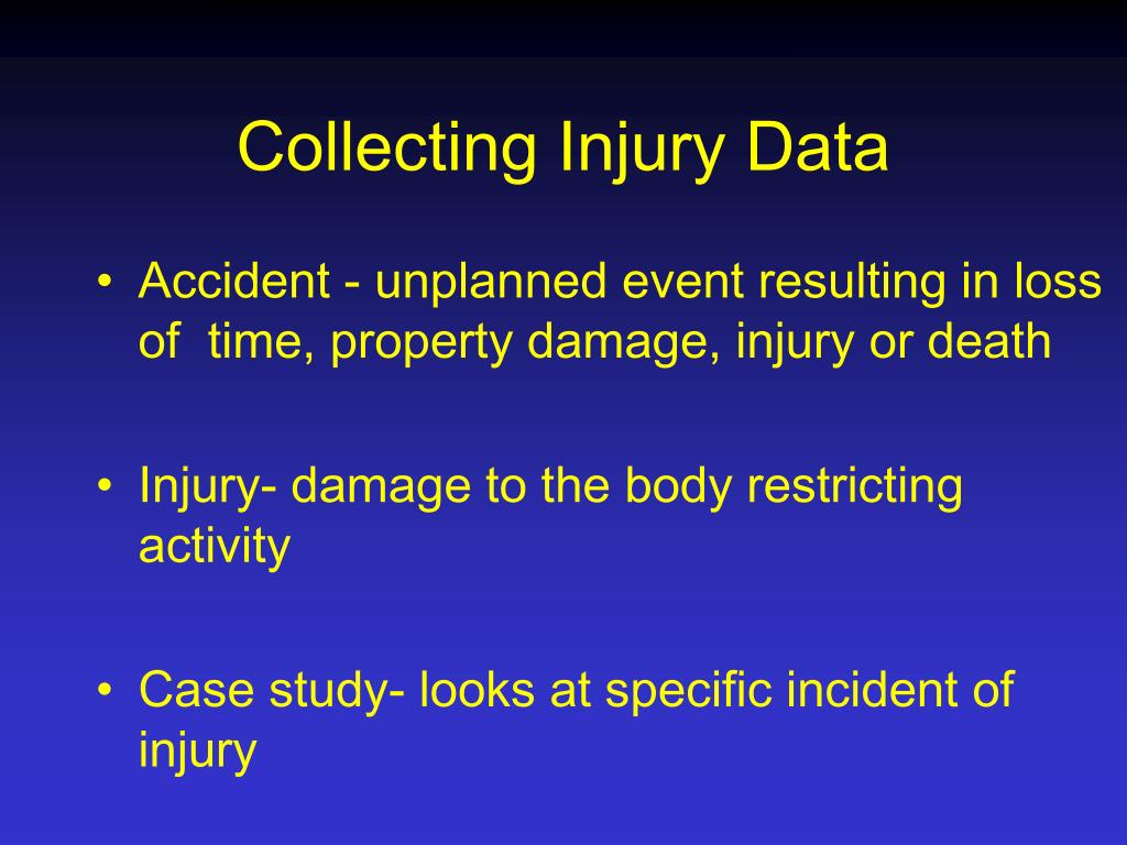 Collecting Injury Data