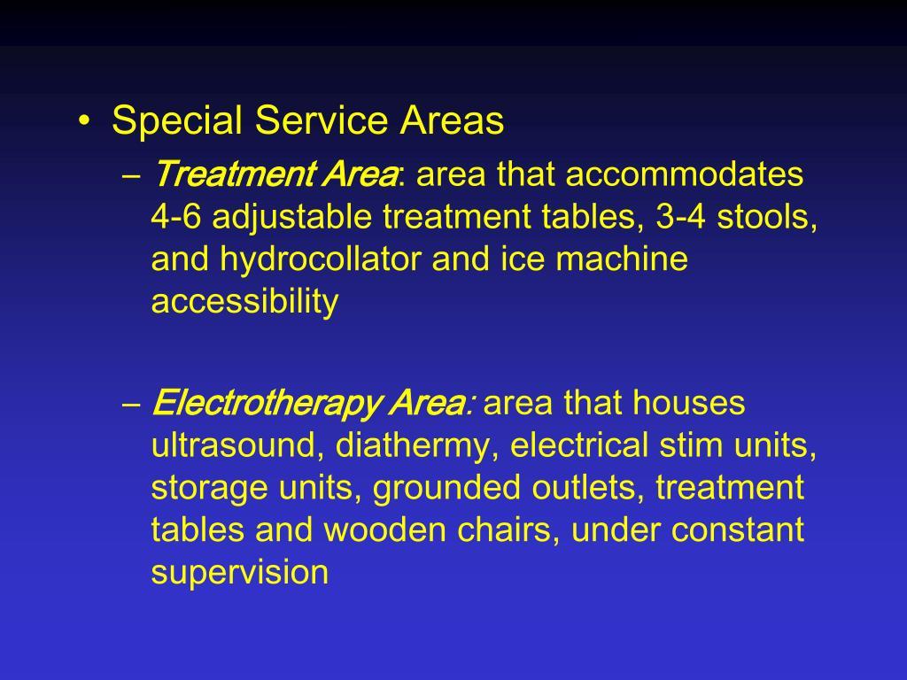 Special Service Areas
