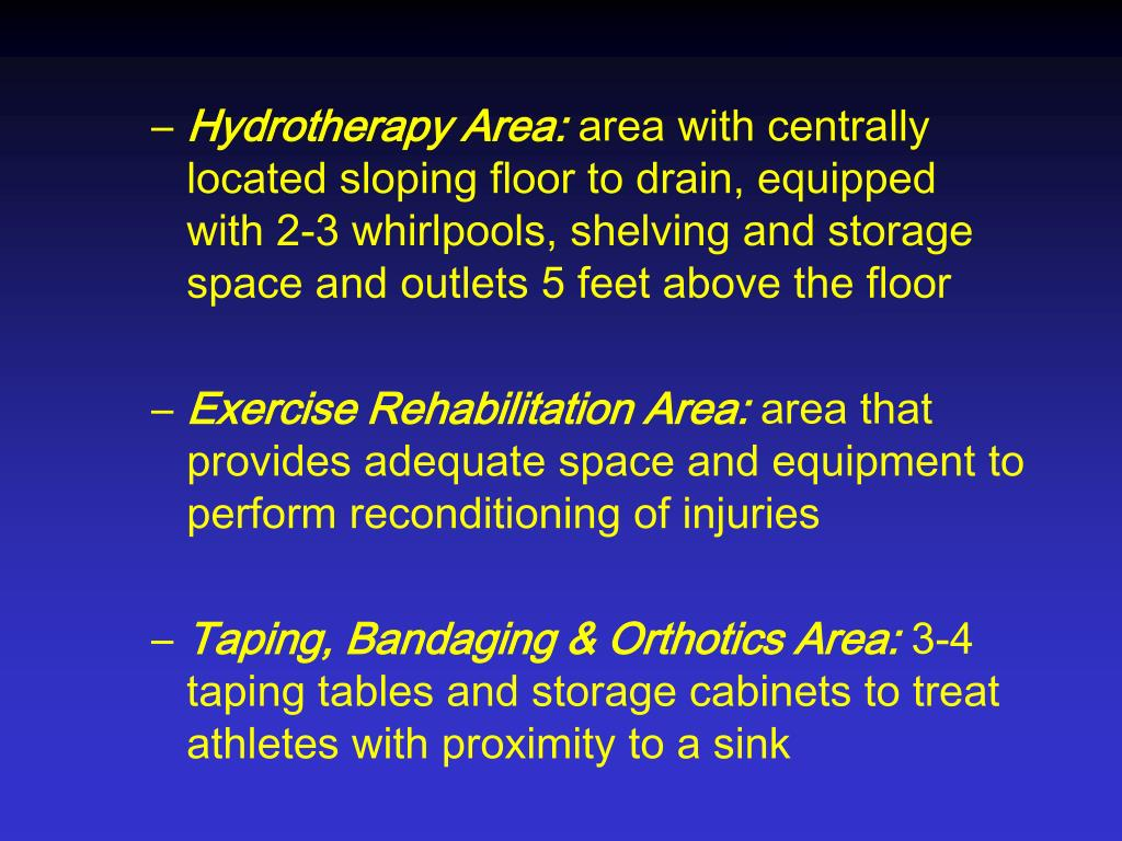 Hydrotherapy Area:
