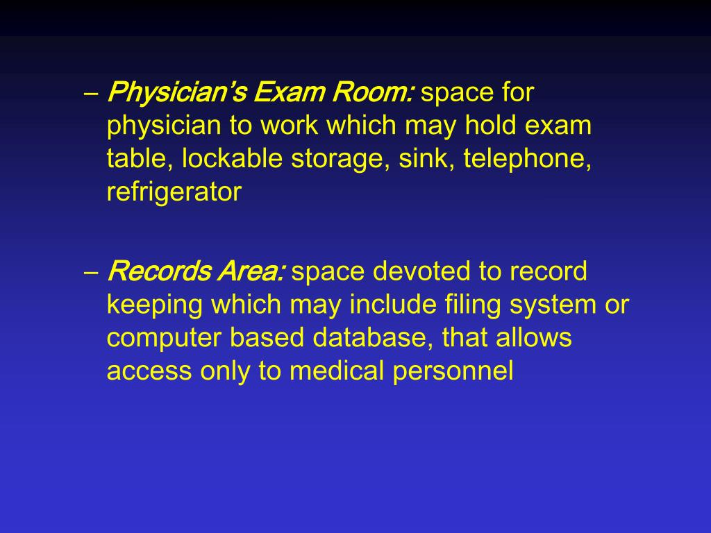Physician's Exam Room: