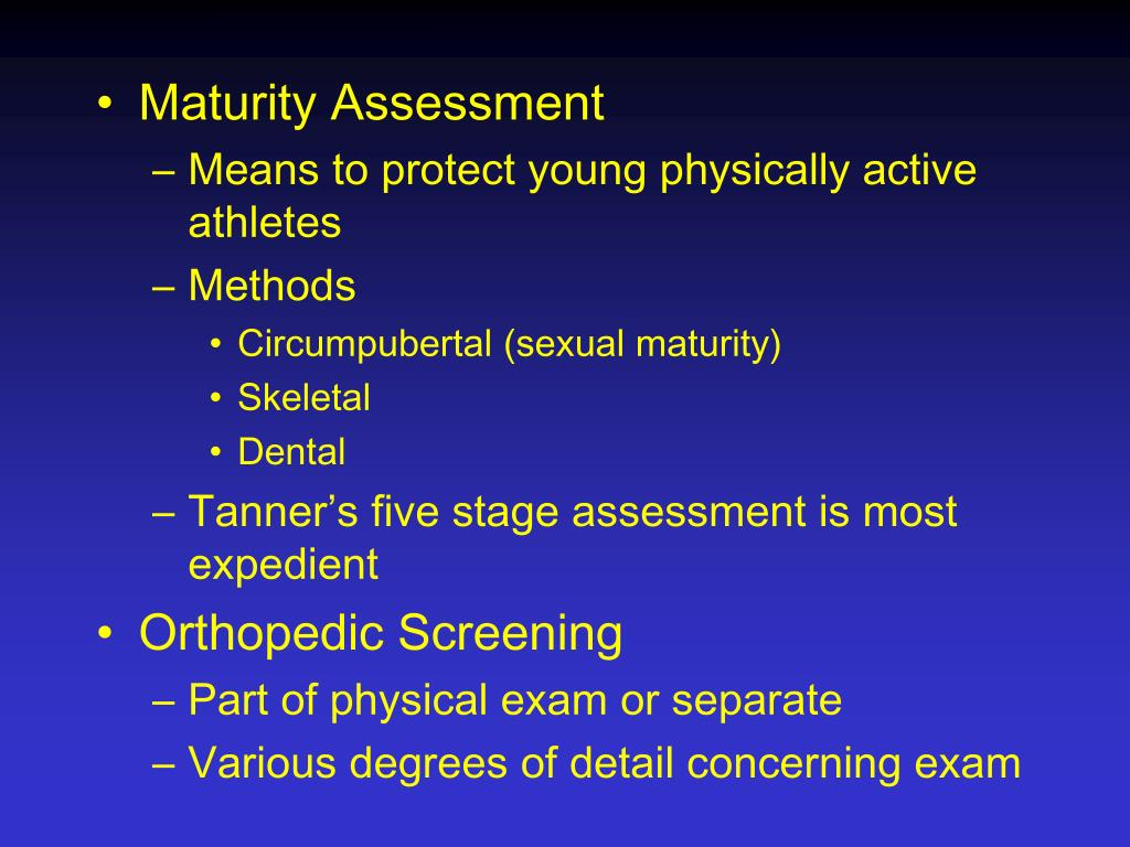 Maturity Assessment
