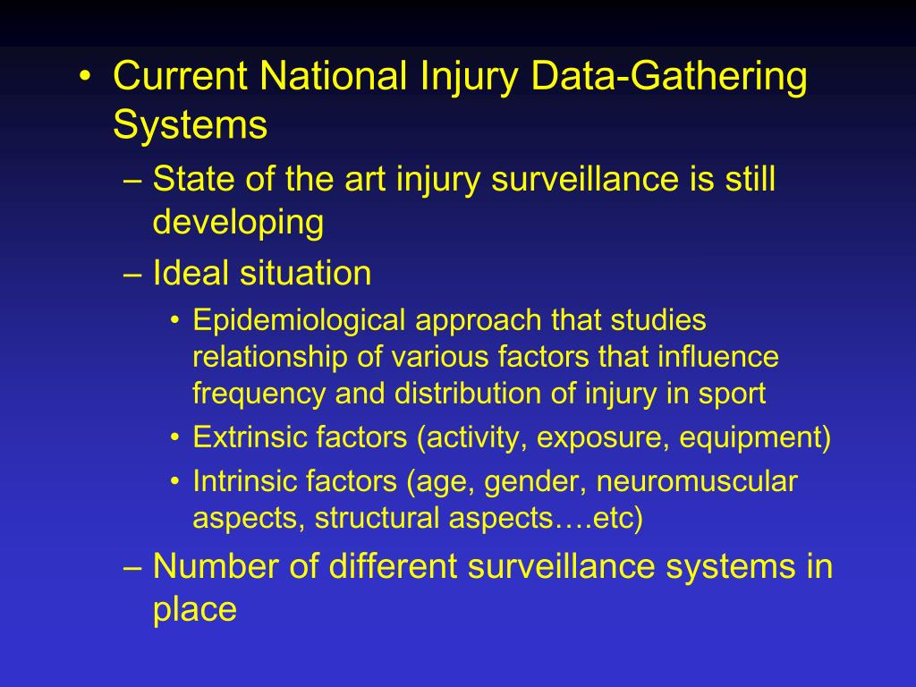 Current National Injury Data-Gathering Systems