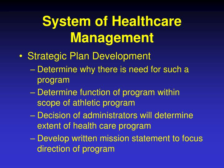 System of healthcare management l.jpg