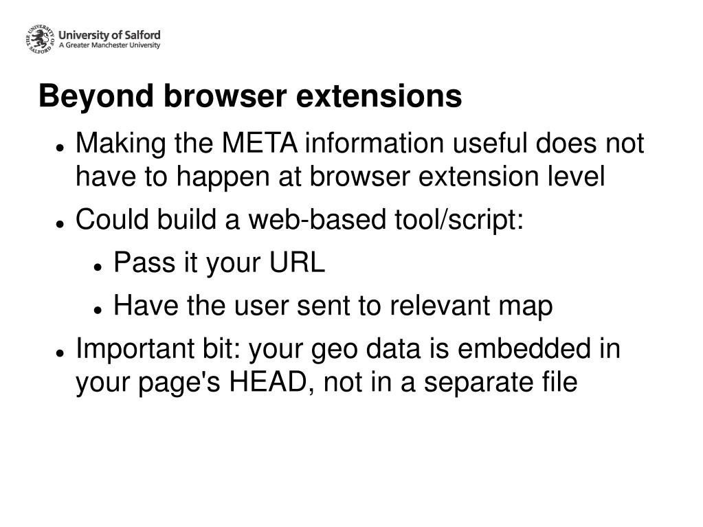 Beyond browser extensions